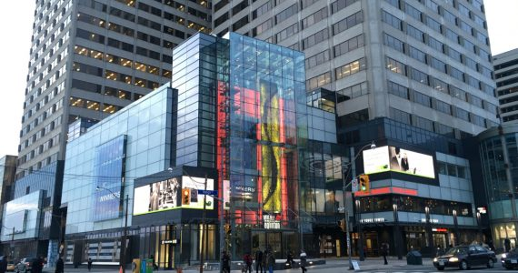Photos of Yonge Eglinton Centre redevelopment. 